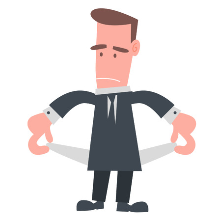 Businessman with Empty Pocket  Vector