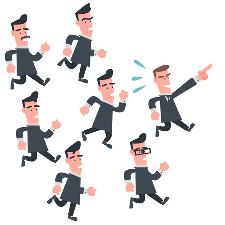 Business People Follow the Leader