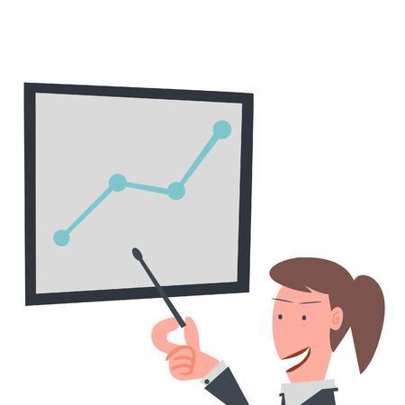 Business Girl is Presentation  Vector