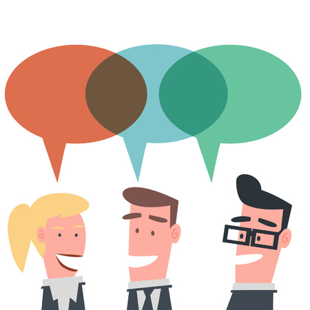 Business Team Conversation  Illustration