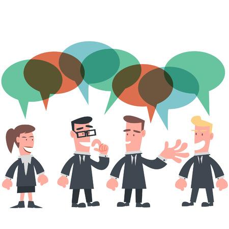 Business Team Conversation  Çizim