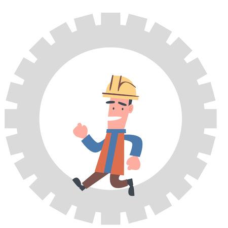 Engineer Running in The Cogwheel