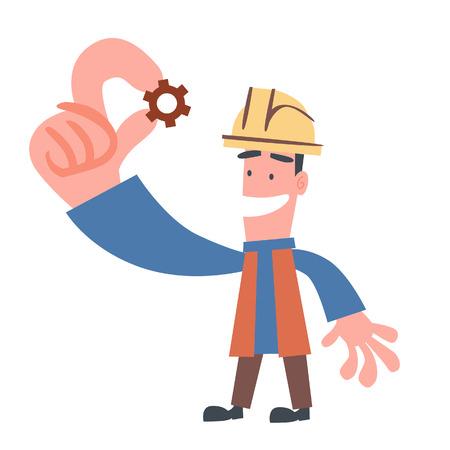 workings: Engineer Showing Little Cogwheel
