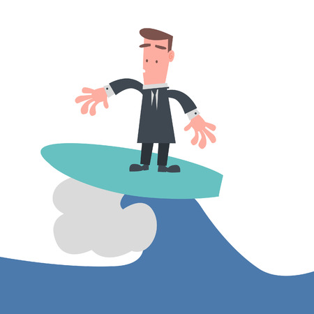 the whole body: Businessman are Surfing