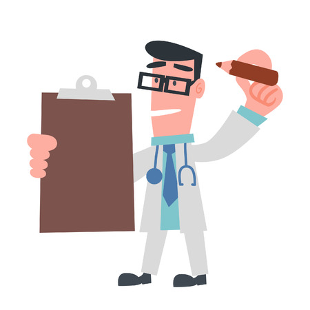 Doctor Checking Something Vector