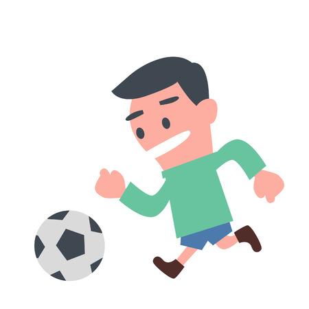 Schoolboy Playing Football
