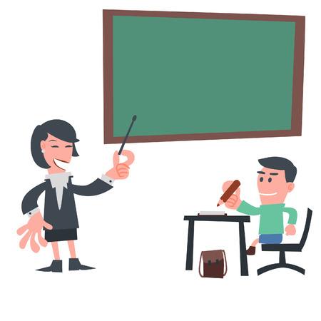 学生の教室での学習