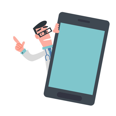Physician with Mobile Phone