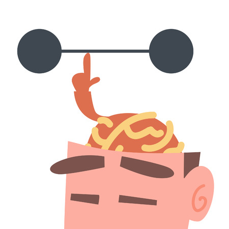 Brain Barbell Stock Illustratie