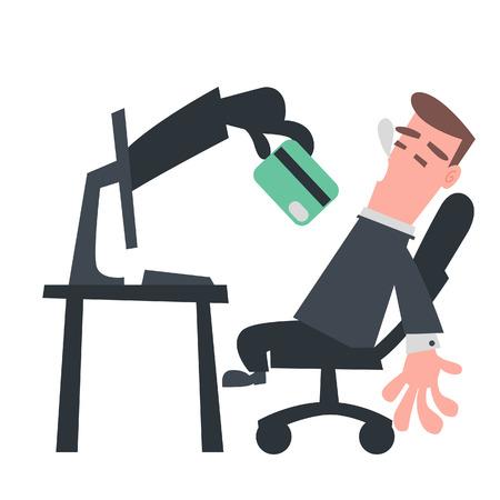 クレジット カードを盗むコンピューターから手