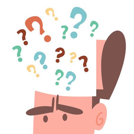 Businessman Brain with Question mark