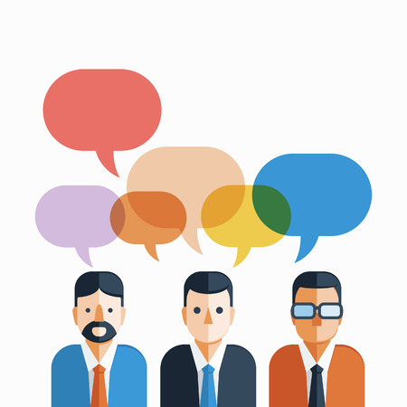 Group of Businessman with colorful speech