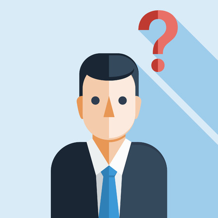 question: Businessman with Question Mark