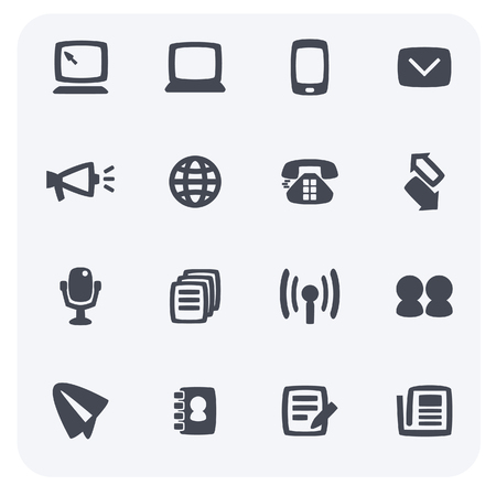 The simple design of business and finance icon set. 일러스트