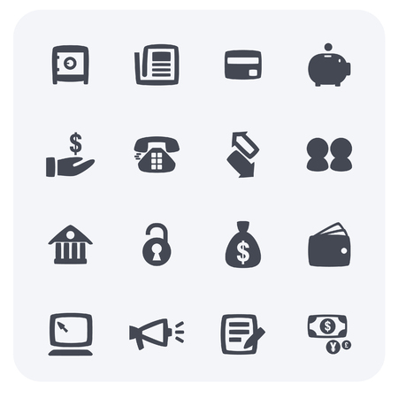 The simple design of business and finance icon set. Stock Illustratie