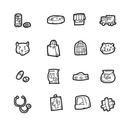 The pet doodle icon set.