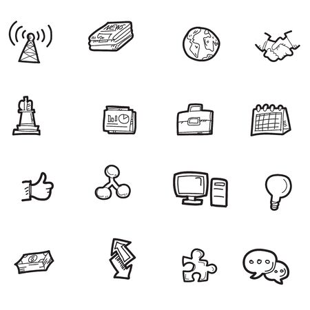 The doodel business icon set.