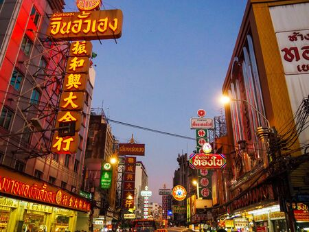 Chinatown Bangkok asian, backgroud, beautiful, beauty, building, business, city,