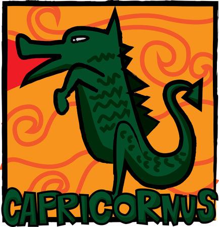 capricornus: zodiac capricornus vector