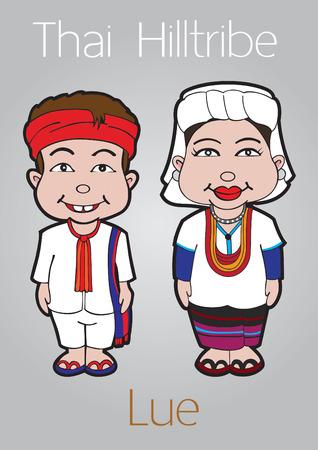 thai women: thai hilltribe illustration