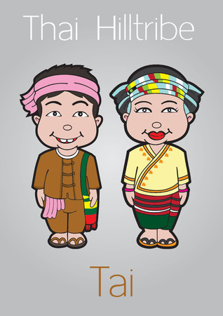 mam: thai hilltribe tai illustration