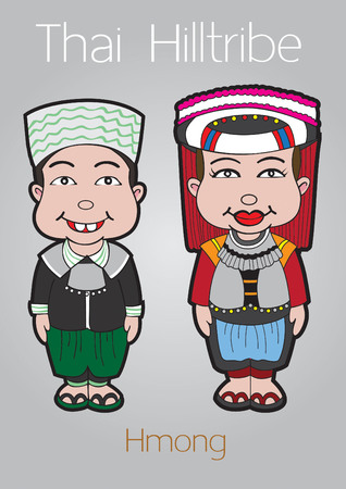 mam: thai hilltribe hmong illustration