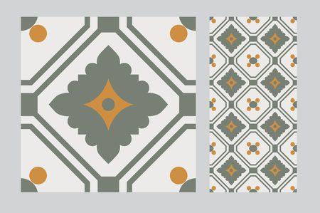 Tiles pattern seamless design Çizim