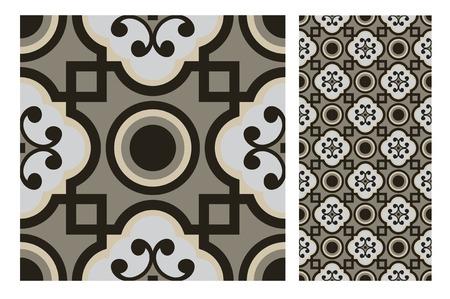 Vintage tile seamless pattern design  illustration Vectores