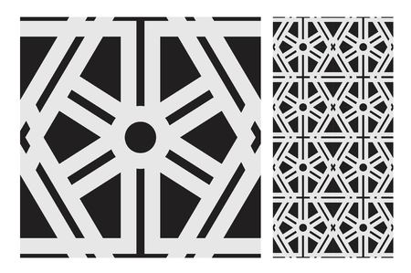 vintage tiles patterns antique seamless design in Vector illustration Zdjęcie Seryjne - 97379485