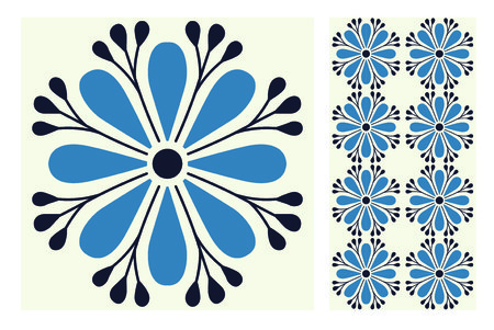 Vintage tile antique seamless pattern.