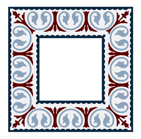 vintage tiles frame patterns antique seamless design in Vector illustration Illustration