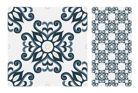 vintage tiles patterns seamless design Vector illustration