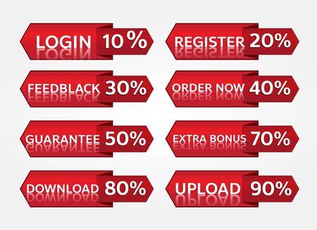 red banner promotion tag design for marketing Иллюстрация