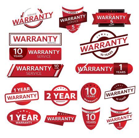 warranty shop promotion tag design for marketing Vecteurs
