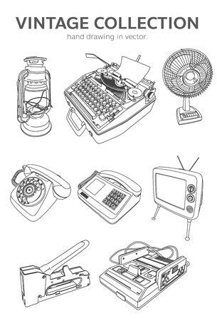 vintage in vector Illusztráció