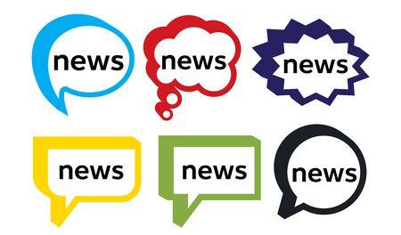 News word and speech bubble Illusztráció