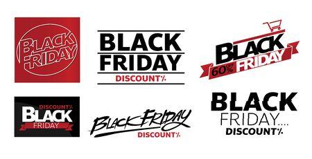 blackfriday onlineshop promotion tag design for marketing sale
