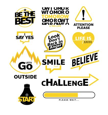 motivation messages Vector illustration message Typography