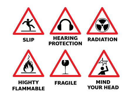 set of traffic sign illustration Illusztráció