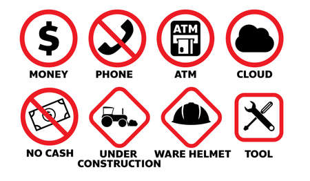 set of traffic sign illustration