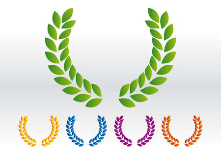 official record: Laurel wreath vector Illustration
