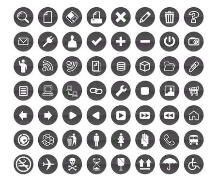 Gray color icons design Vector