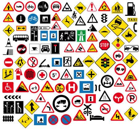 Divers types de signalisation routière