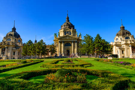 Széchenyi Thermal Bath in Budapest, Hungary, the largest medicinal bath in Europe