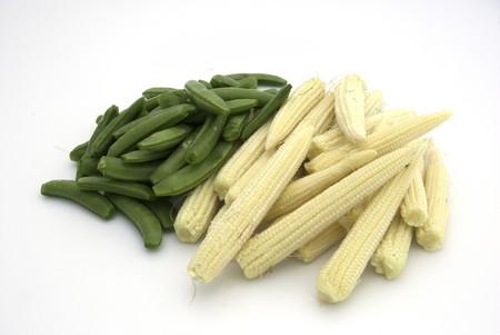 Peas and Baby corn photo