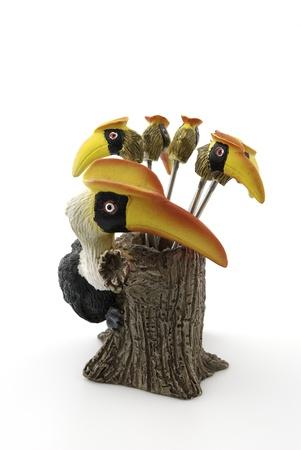 hornbill: Hornbill small fork for fruit