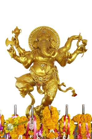 god figure: golden ganesha Stock Photo