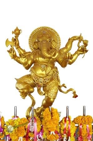 god icon: golden ganesha Stock Photo
