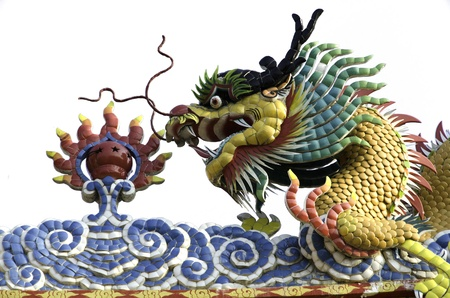 dragon statue in joss house photo