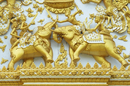 war decoration: thai angle on elephant Stock Photo